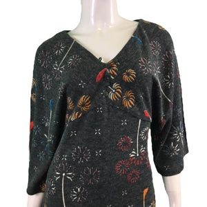 NWT Lavand Gray Floral Dress